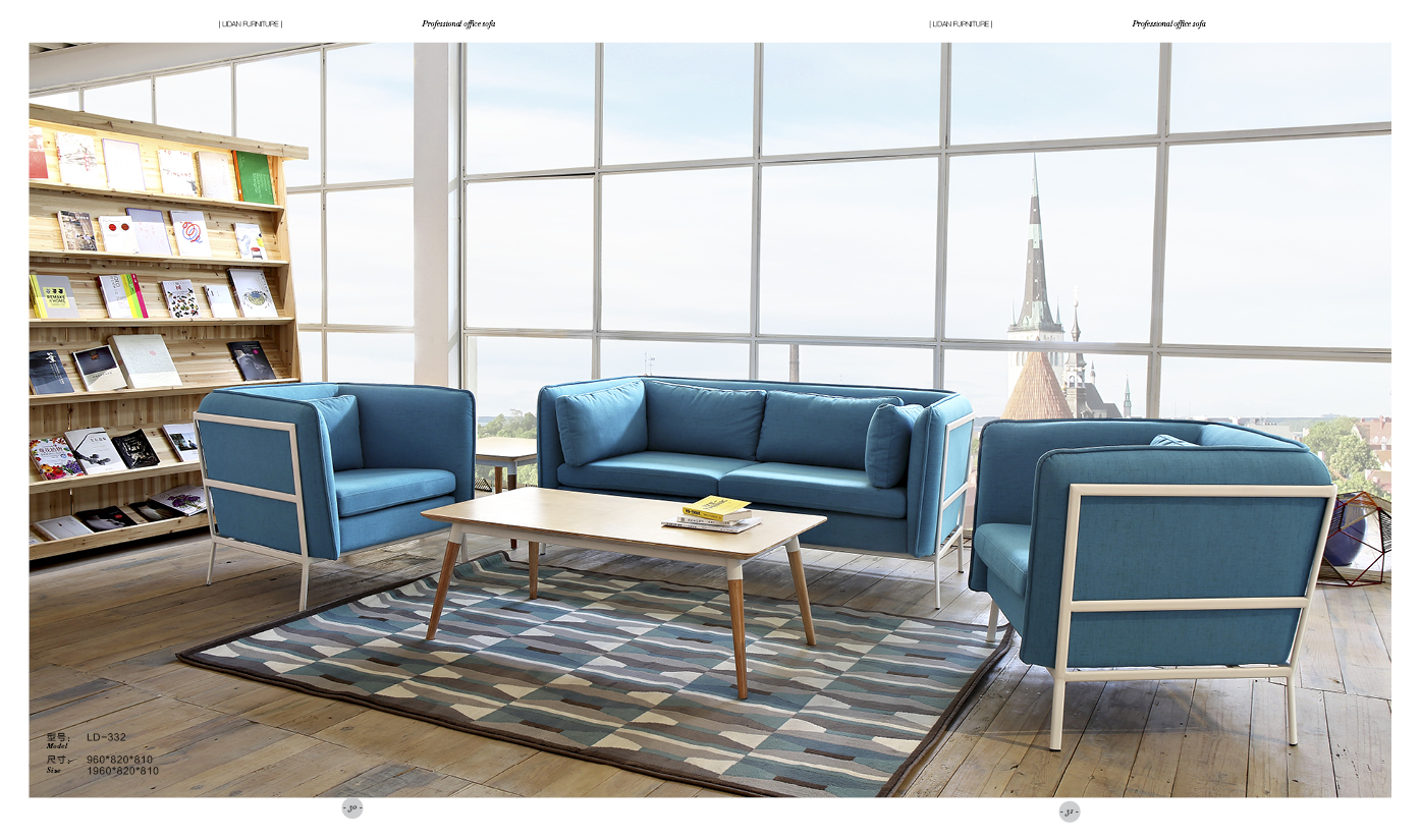 时尚布艺沙发(雾霾蓝)