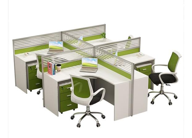 简约现代屏风卡位2/4/6人位办公桌