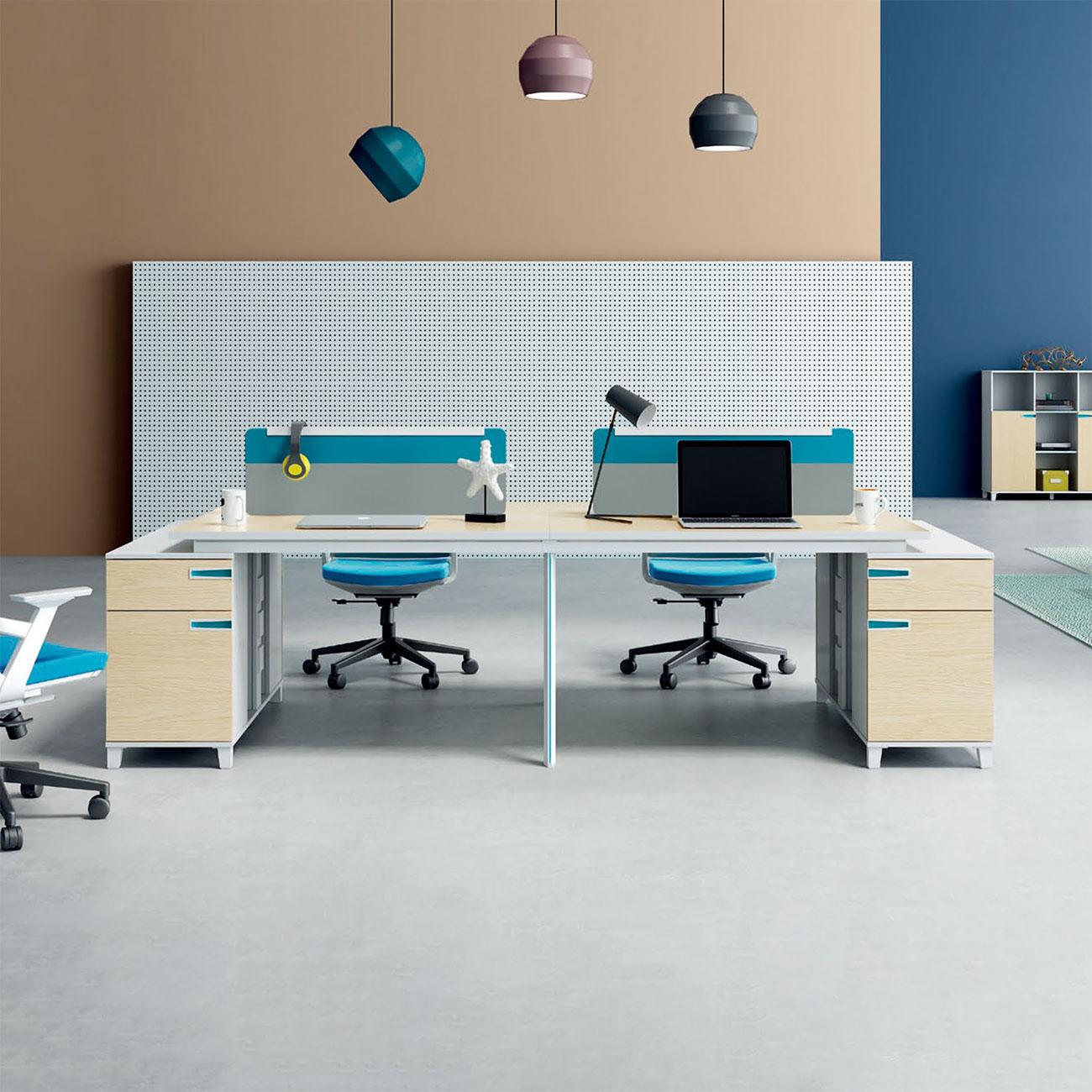 员工办公桌YG-005